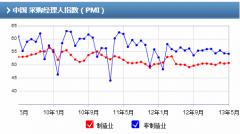 中国5月采购经理人指数